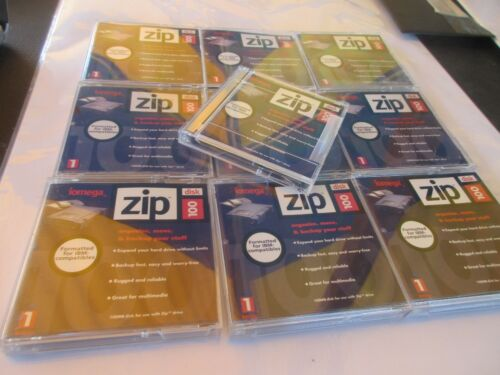 TEN zip 100MB - Drive Floppy Iomega Data Storage PC Disc Discs