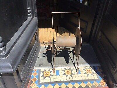 Vintage Cast Iron Hose Reel Trolley