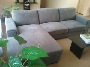 Three seater lounge with chaise