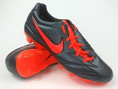 17a7e9a54 Nike Mens Rare T90 Shoot IV FG Soccer Cleats 472547-088 Size 8.5 Black Red