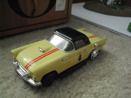 Vintage Ideal Motorific Yellow Ford Thunderbird Car Incomplete