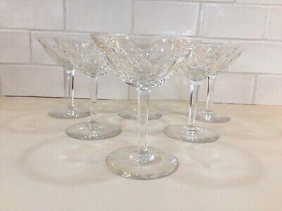 6 coupes à champagne en cristal. Modèle GANDRIA cp H: 130 mm VAL SAINT LAMBERT