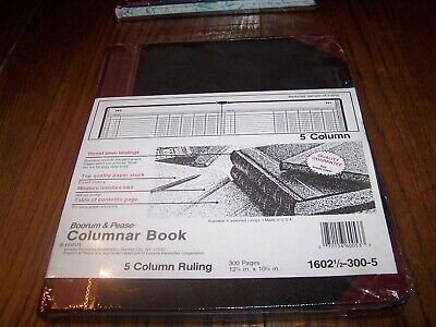 Boorum And Pease Columnar Book - 5 Column 300 Pages 1602 12 300 - 5