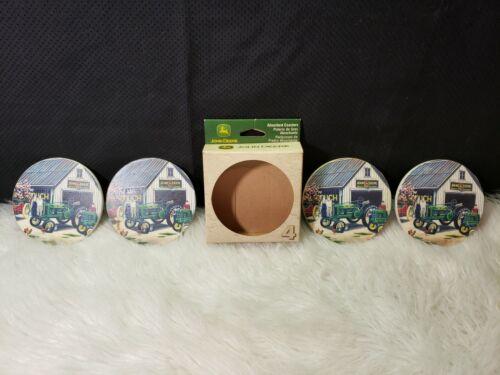 John Deere Absorbent Coasters - Box of 4