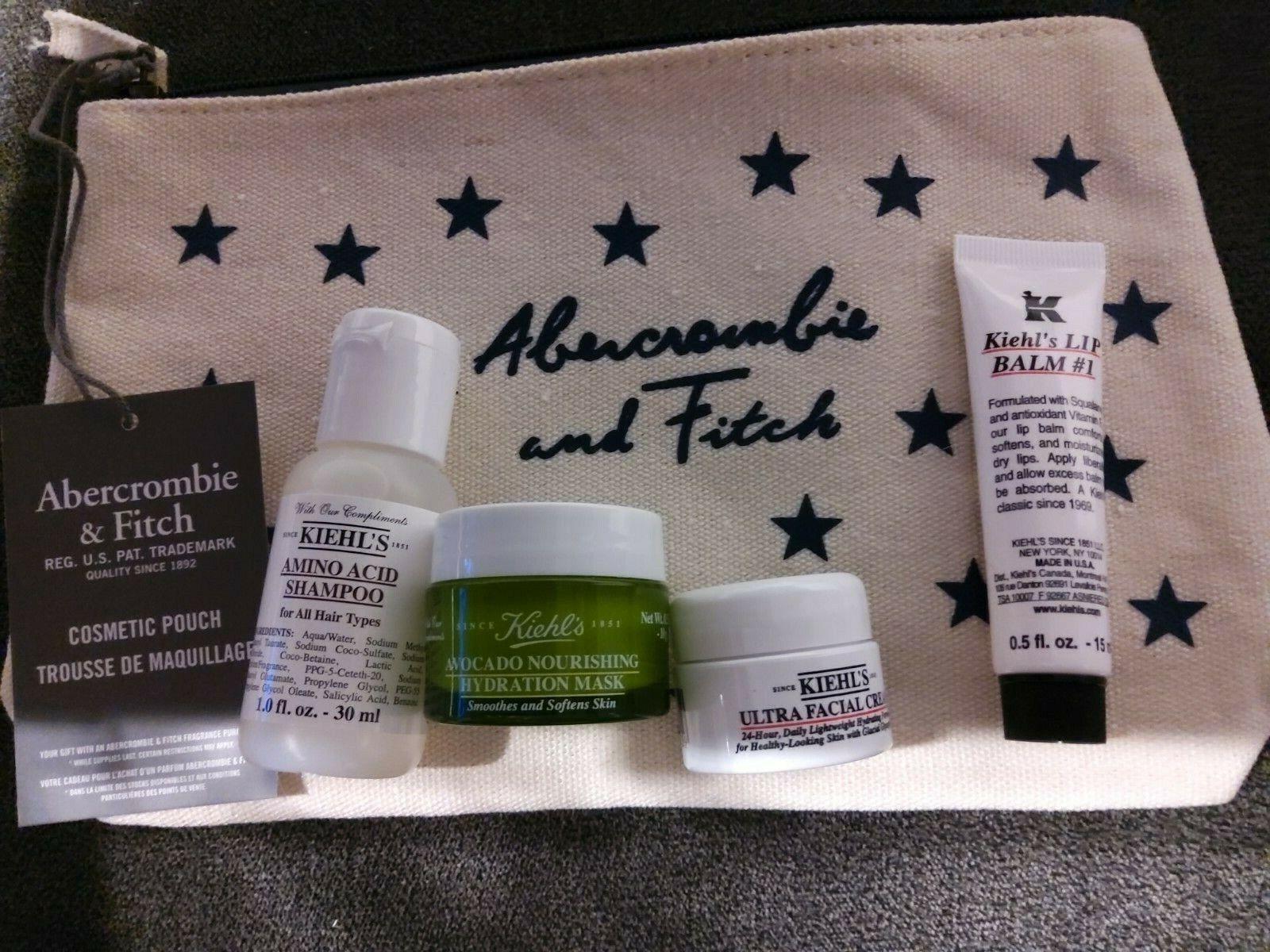 Kiehls Kosmetik Set  Lip Balm Gesichtscreme Feuchtigkeitsmaske Shampoo Tasche