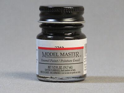 TESTORS PAINT MODEL MASTER SEMI GLOSS BLACK ENAMEL 1/2oz 14.7ml TES2740 NEW