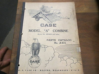 Case A Pull Type Combine Parts Manual