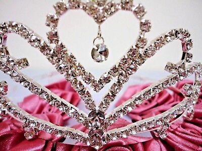 Heart Charmed Tiara SWEET 15/16, BAPTISM, 1ST COMMUNION, WEDDING THEME #CH-32020