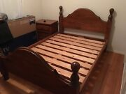 Timber queen bedroom set 5 piece Essendon North Moonee Valley Preview