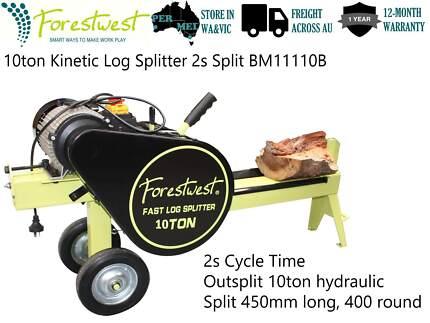 10ton 2s Split Kinetic Log Splitter BM11110B ON SALE