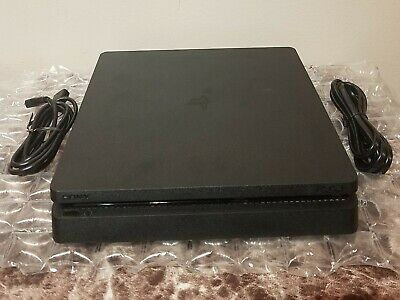 Sony PlayStation 4 SLIM 500GB System PS4 Console & Cables Only Tested Very Good
