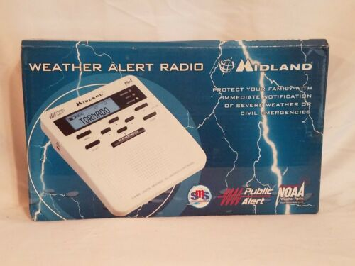 Midland WR-100 All Hazards Weather Alert Digital Clock Radio w/ Adapter