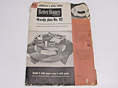 VINTAGE BETTER HOLMES AND GARDEN, CHILDREN'S PLAY TABLE HANDY PLAN NO.