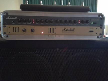 MARSHALL 8008 POWER AMP MARSHALL 9001 PREAMP 2RU w/FSW
