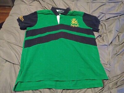 dd97a699a5768 RALPH LAUREN VINTAGE POLO SHIRT SIZE LARGE CUSTOM FIT RL RACING STABLES  CREST