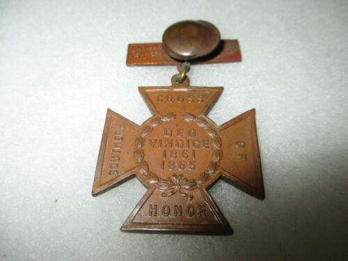 DAUGHTERS of the CONFEDERACY - UCV Southern Cross of Honor Medal - Named