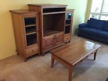 Pine Set - TV Unit, Adjoining Bookcases & Coffee Table North Sydney North Sydney Area Preview