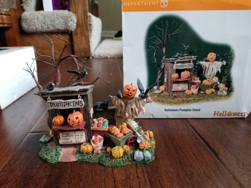 Dept. 56 Snow Village Halloween Pumpkin Stand 56.52956  Retired