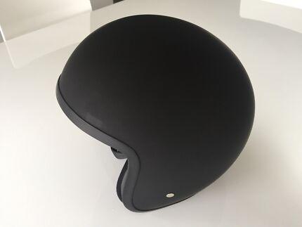 Nex Motorbike Helmet Open Face Matt Black