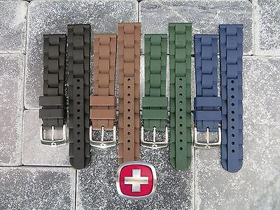 Neu 19mm Wenger Swiss Militär Original Gummiband Taucher