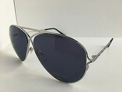 New Tom Ford Peter TF 142 18V Silver 59mm Sunglasses Italy