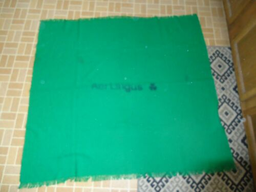 VINTAGE AER LINGUS IRELAND AIRLINE KELLY GREEN PASSENGER BLANKET DONEGAL TWEED