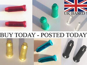 10-25-50-Anodised-Alloy-MTB-Road-Cycle-Gear-Bike-Brake-Inner-Cable-Ends-Crimps