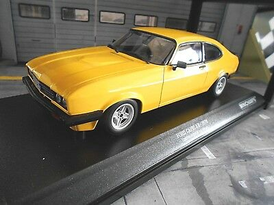 FORD Capri Coupe MKI 2000GXL 2000 GXL gelb yellow 1973 MCG SP NEU 1:18