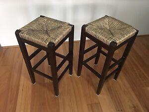 Pair of wooden kitchen stools Mosman Mosman Area Preview
