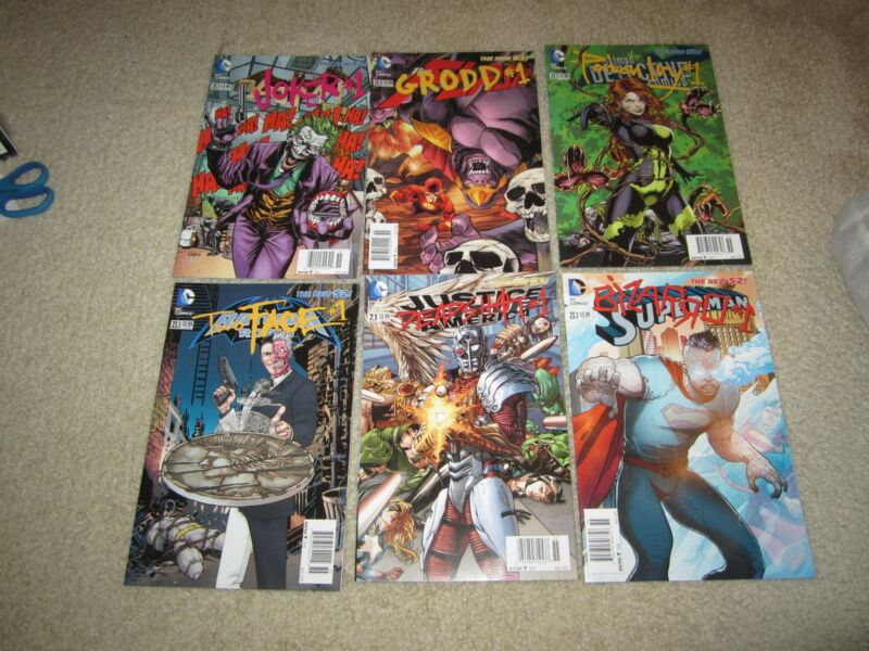 AWESOME LOT OF 6 RARE VILLIAN NEWSTAND EDITION COMIC DC