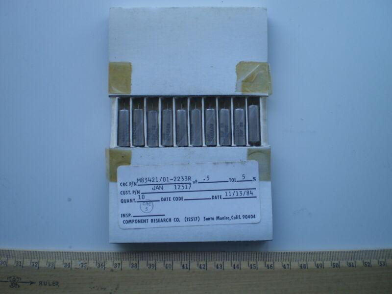 10 pcs lot  Mil spec CRC  0.5uF/ 5%/ 50V JAN-12517 capacitors