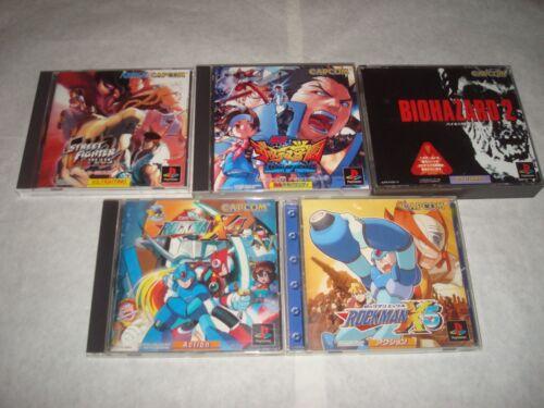 Japanese import PlayStation games Capcom lot