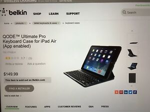 KEYBOARD CASE FOR iPad Air / Belkin