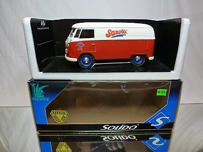 SOLIDO 9405 VW VOLKSWAGEN T1 BUS SAROTTI RED VANILLA 1:18? NEAR MINT IN BOX