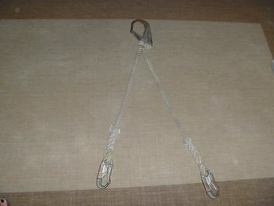 Lanyard Double Legs With Rebar Hooks End. 30 Long Each Rope Leg.