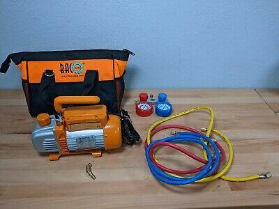 Bacoeng Professional Vacuum Pump Manifold Gauge Set - Hvac Ac Refrigeration K
