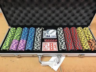Set Poker Con 500 Fiches Da 14gr E Due Mazzi Di Carte
