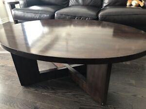 Matching coffee table and two end tables