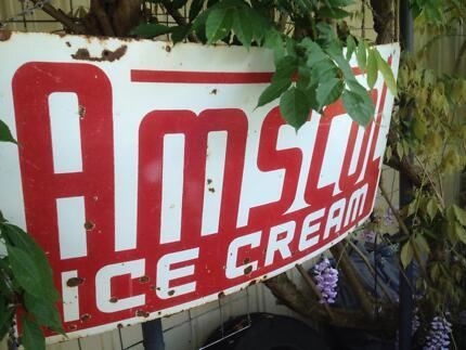 AMSCOL vintage tin sign.