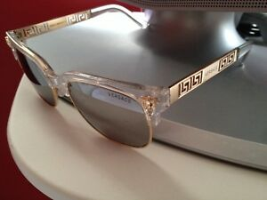 Versace men sunglasses black an gold new