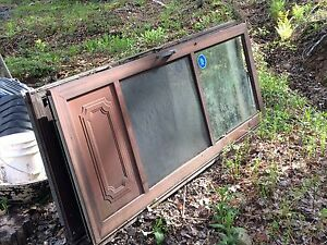"2 steel storm doors approx 31"" W 79 1/3"" high"