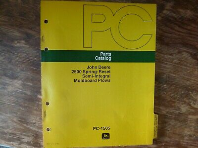 John Deere 2500 Spring-reset Si Moldboard Plow Parts Catalog Manual Pc-1505