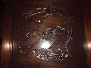 Moving sale - carved dragon coffee and end tables