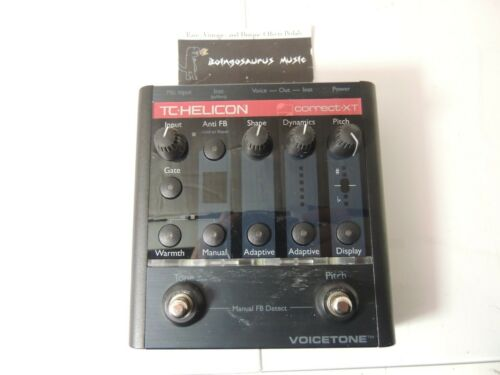 TC Helicon Voicetone Correct XT Vocal Effects Processor Pedal Free USA Shipping