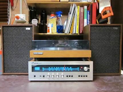 Rank Arena RA-401 Vintage Receiver + Turntable + HK-20 Speakers