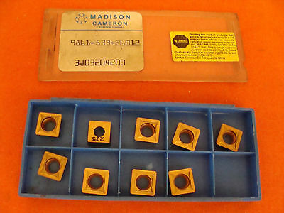 New Old Stock Madison 9861-533-26012 Carbide Inserts Lot Of 9