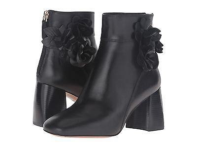 $450 TORY BURCH Tory Burch Blossom Flower Booties Ankle Chunky Heel Boots 8.5