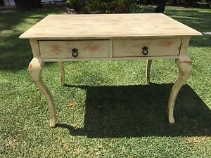 Ornate French lime wash style desk North Willoughby Willoughby Area Preview