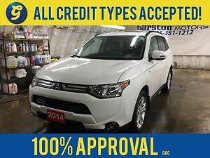 2014 Mitsubishi Outlander GT*4WD*LEATHER*POWER SUNROOF*7 PASSENG