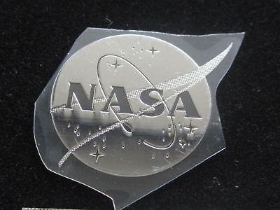 NASA NASA MEATBALL METAL DECAL STICKER 1 INCH DIAMETER